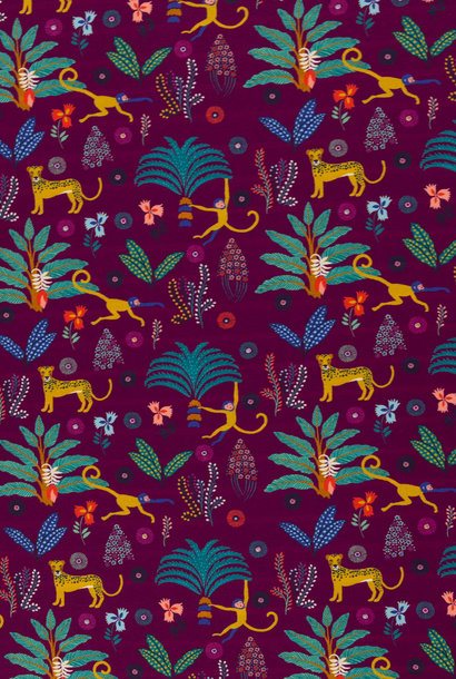 Tricot - Tropical Monkey - Paars