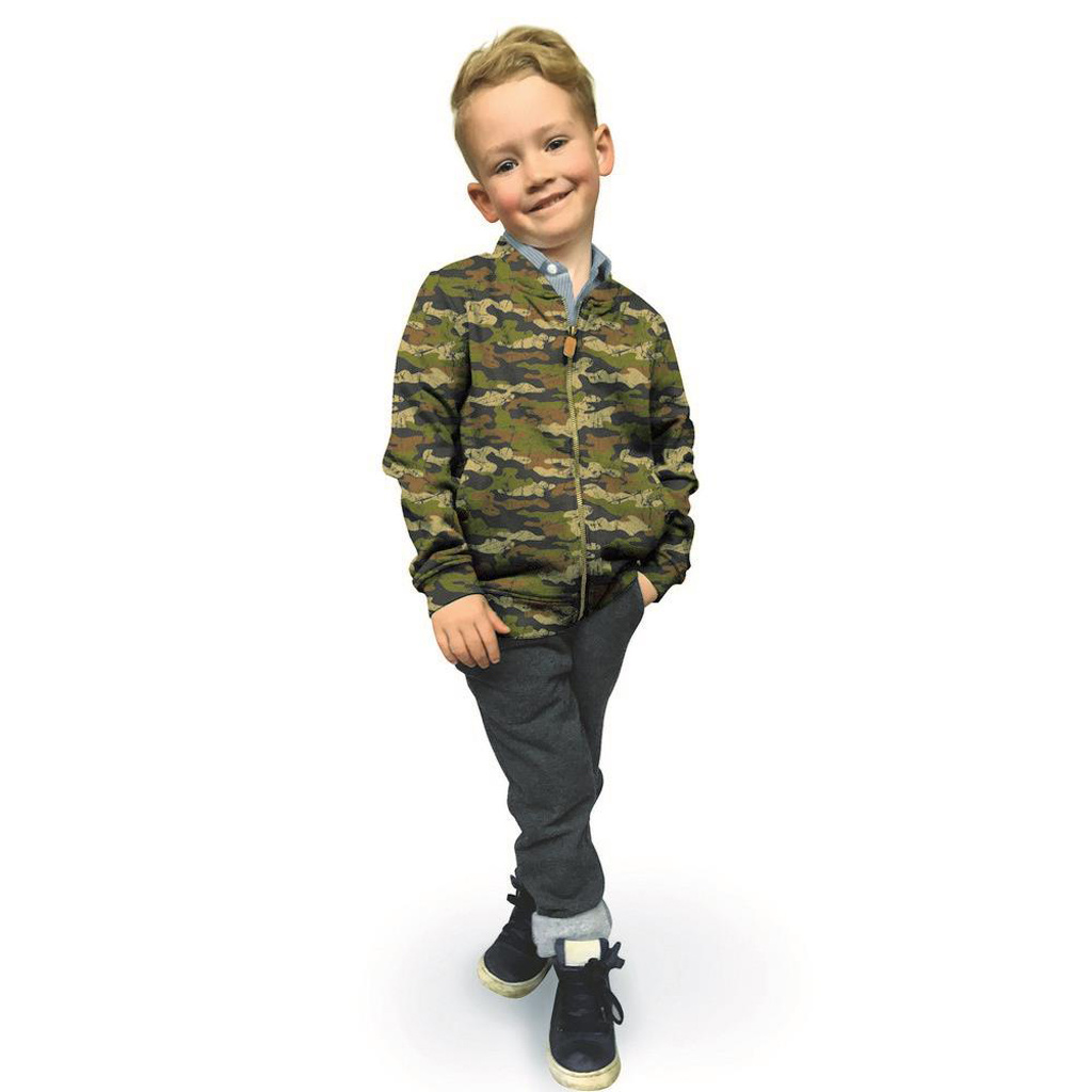 French Terry - Army Camouflage - Brown/Beige-2