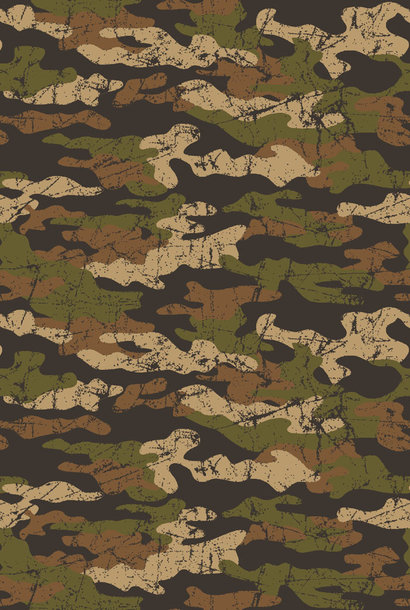 French Terry - Army Camouflage - Brown/Beige