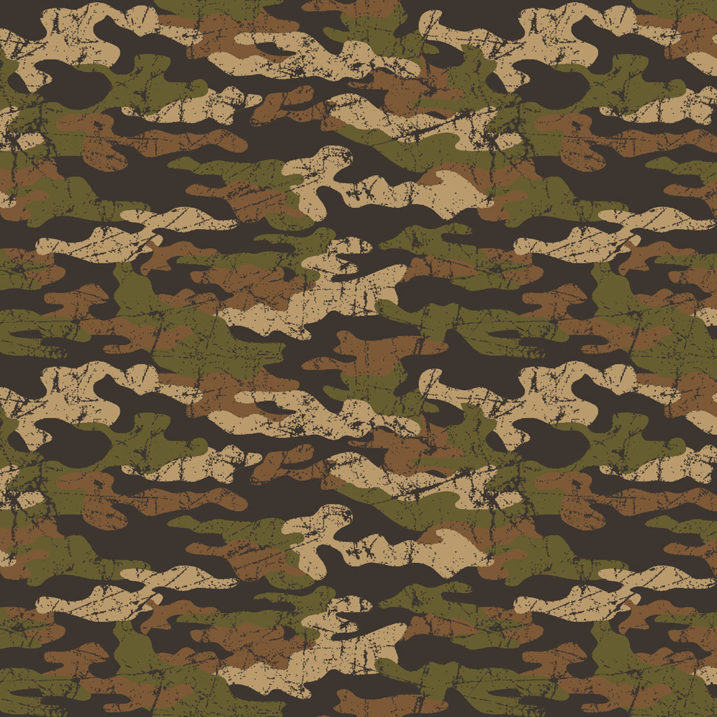 French Terry - Army Camouflage - Brown/Beige-1