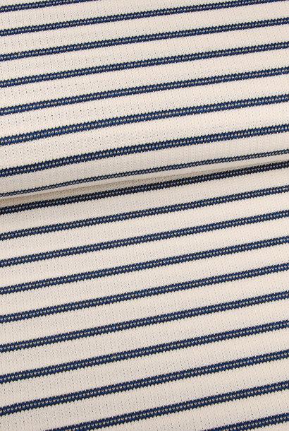 Gebreid (katoen) - Marinelook Blauw