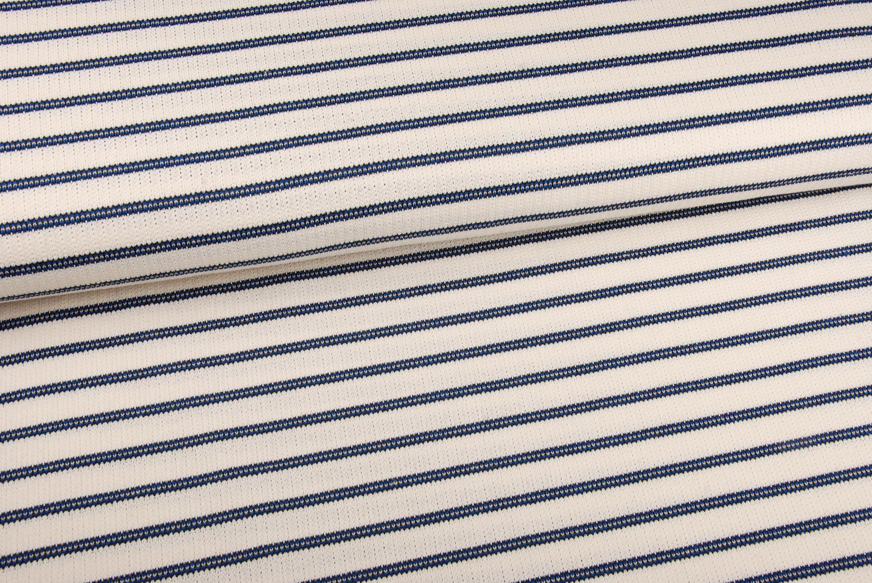 Gebreid (katoen) - Marinelook Blauw-1