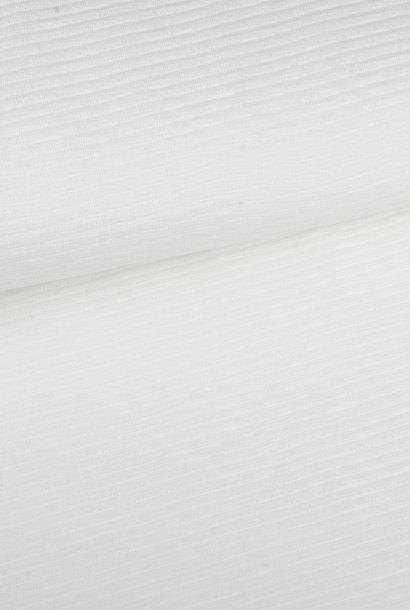 Gebreid (fijn ribstructuur) - Wit