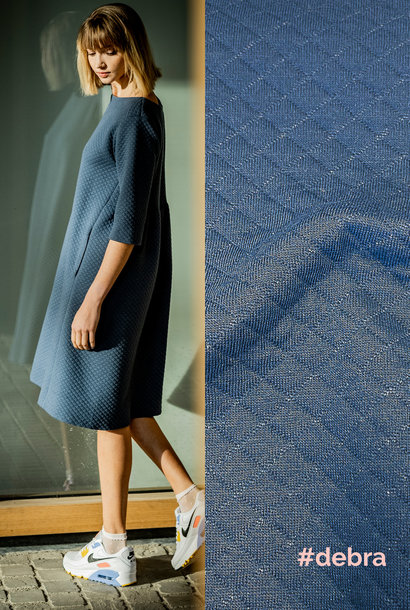 Sweater Matelassé - Debra - Dark Denim