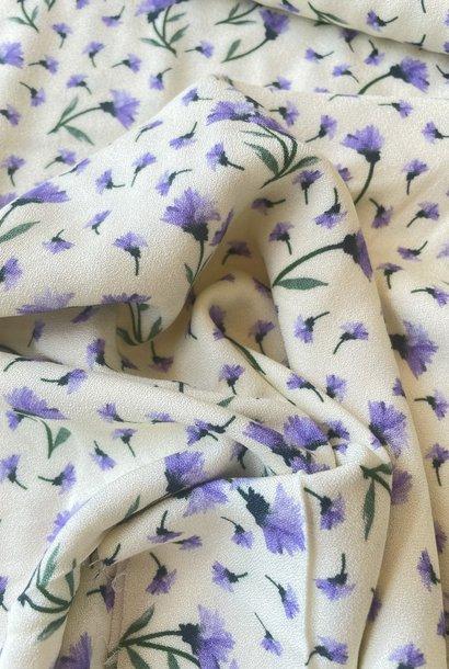 Crêpe - Paarse Bloemen