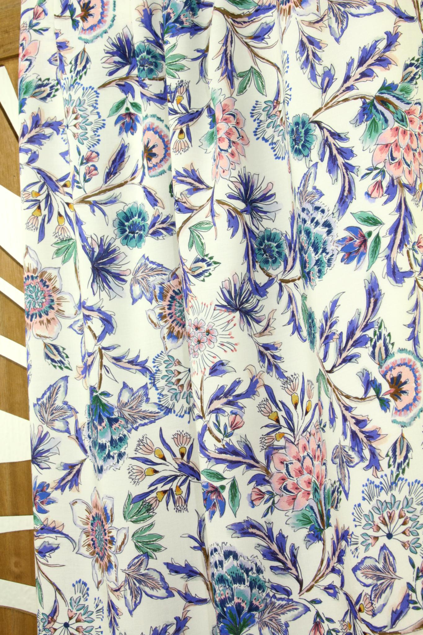 Viscose - Zachte bloemenprint-1