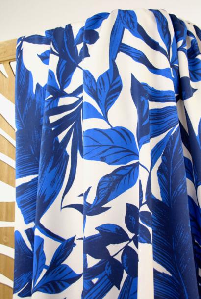 Viscose - Blauwe bladeren
