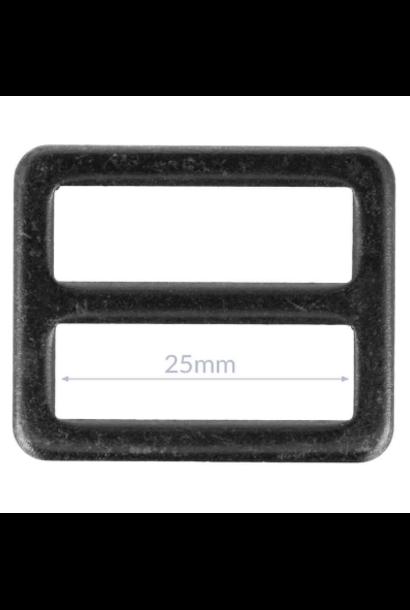 Gesp - Zwart nikkel (25/32 mm)