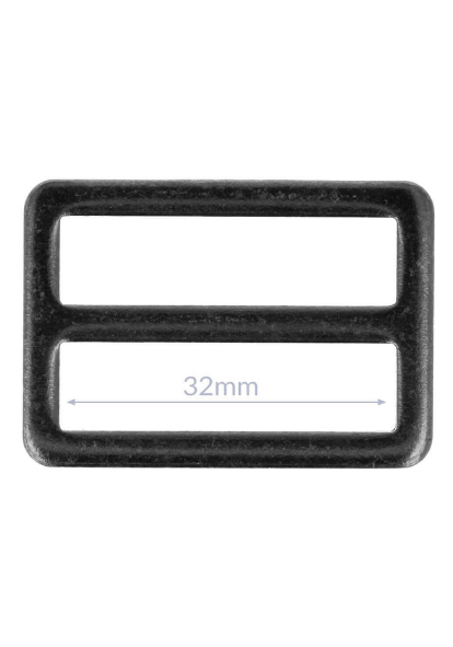 Gesp - Zwart nikkel (25/32 mm)-2