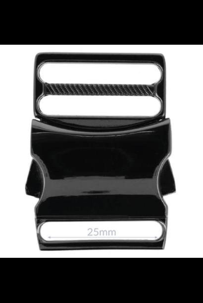 Klikgesp - Zwart nikkel (25/32 mm)