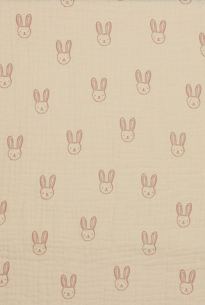 Double Gauze GOTS - Sweet Rabbit - Zalm