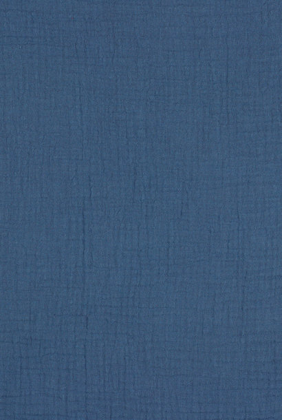 Double Gauze GOTS - Jeansblauw