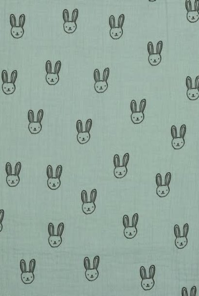 Double Gauze GOTS - Sweet Rabbit - Mint