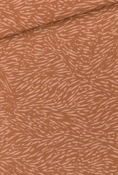 Viscose Rayon - Flecks - Amber Bruin