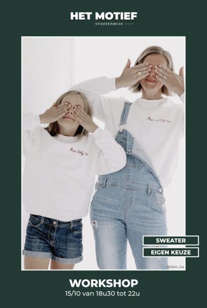Workshop - Sweater op 15/10 (VOLZET)