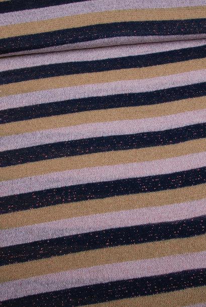 Knit - Lurex Roze/Blauw