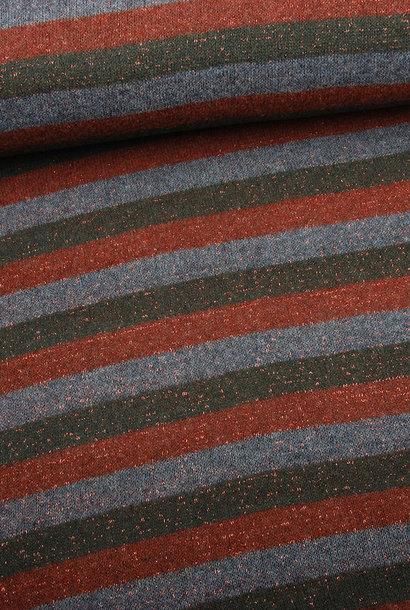 Knit - Lurex Rood/Groen
