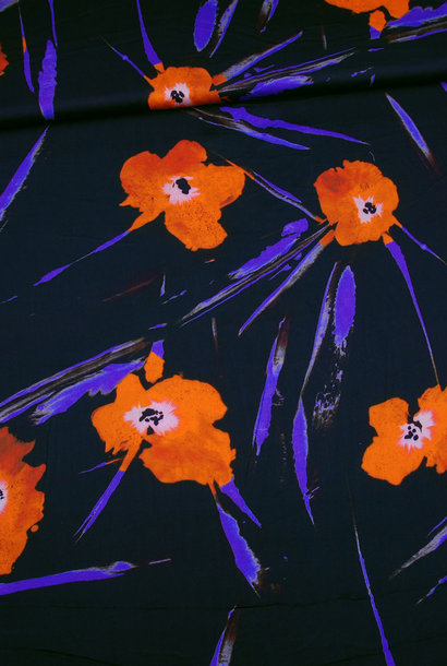 Viscose - Poppies