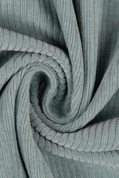 Ribfluweel (stretch) - Lichtblauw
