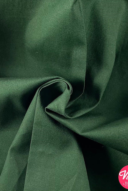 Katoen (stretch) - Bosgroen