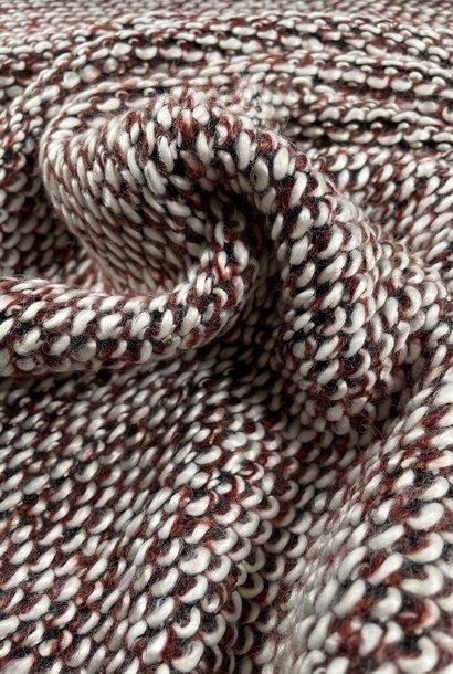 Bouclé knit - Burgundy