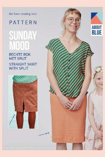 Sunday Mood - Rechte rok met split