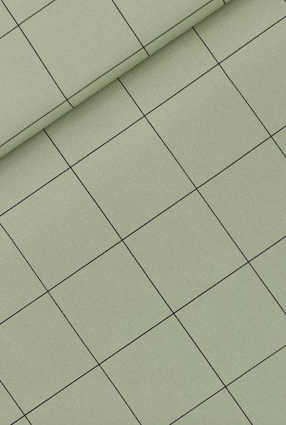 Canvas Gabardine Twill - Thin Grid - Thee Groen