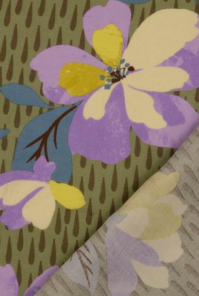 Twill - Lila Flowers