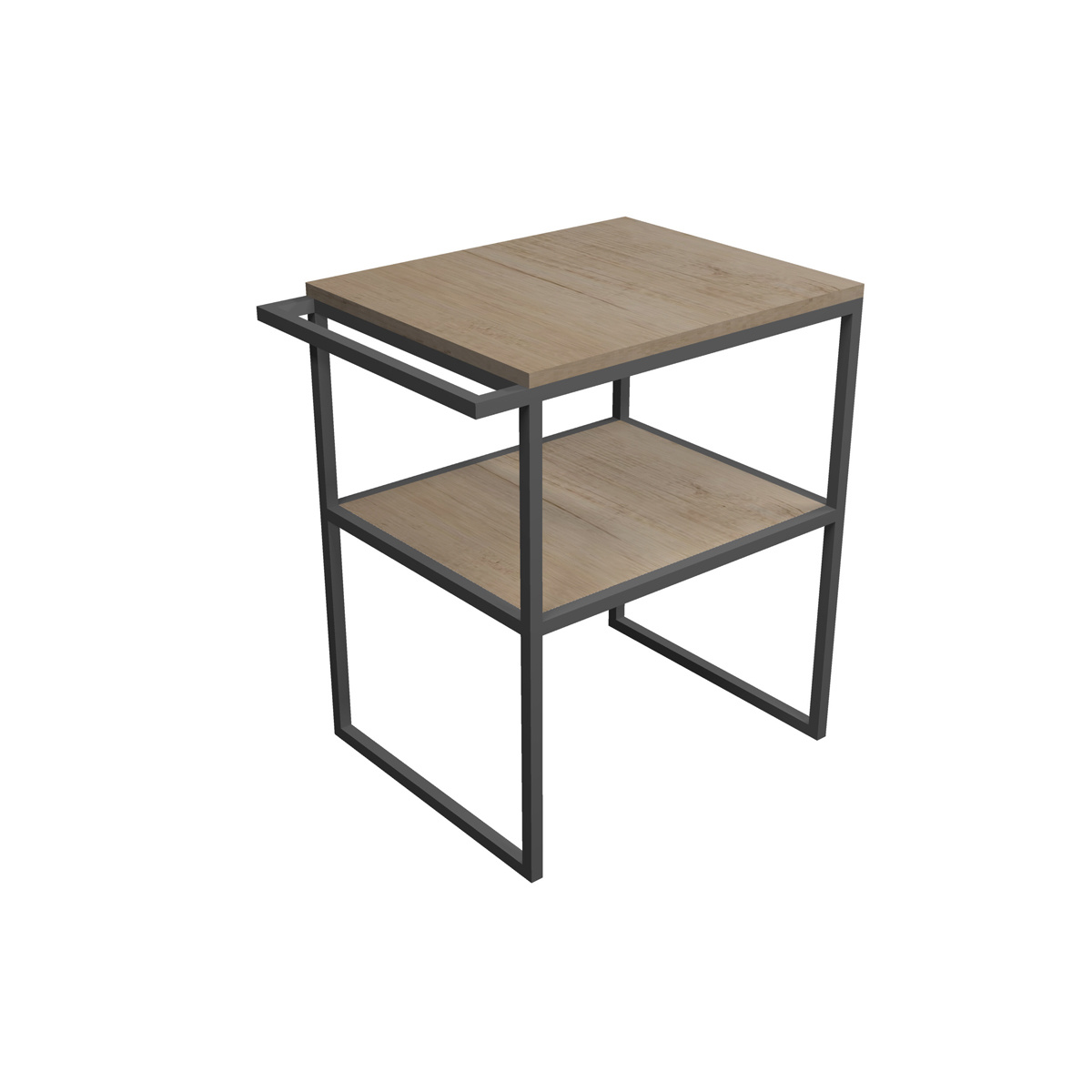 FRAME 90 cm AluminiumLavabostruktur mit Beinen und linkem Handtuchhalter