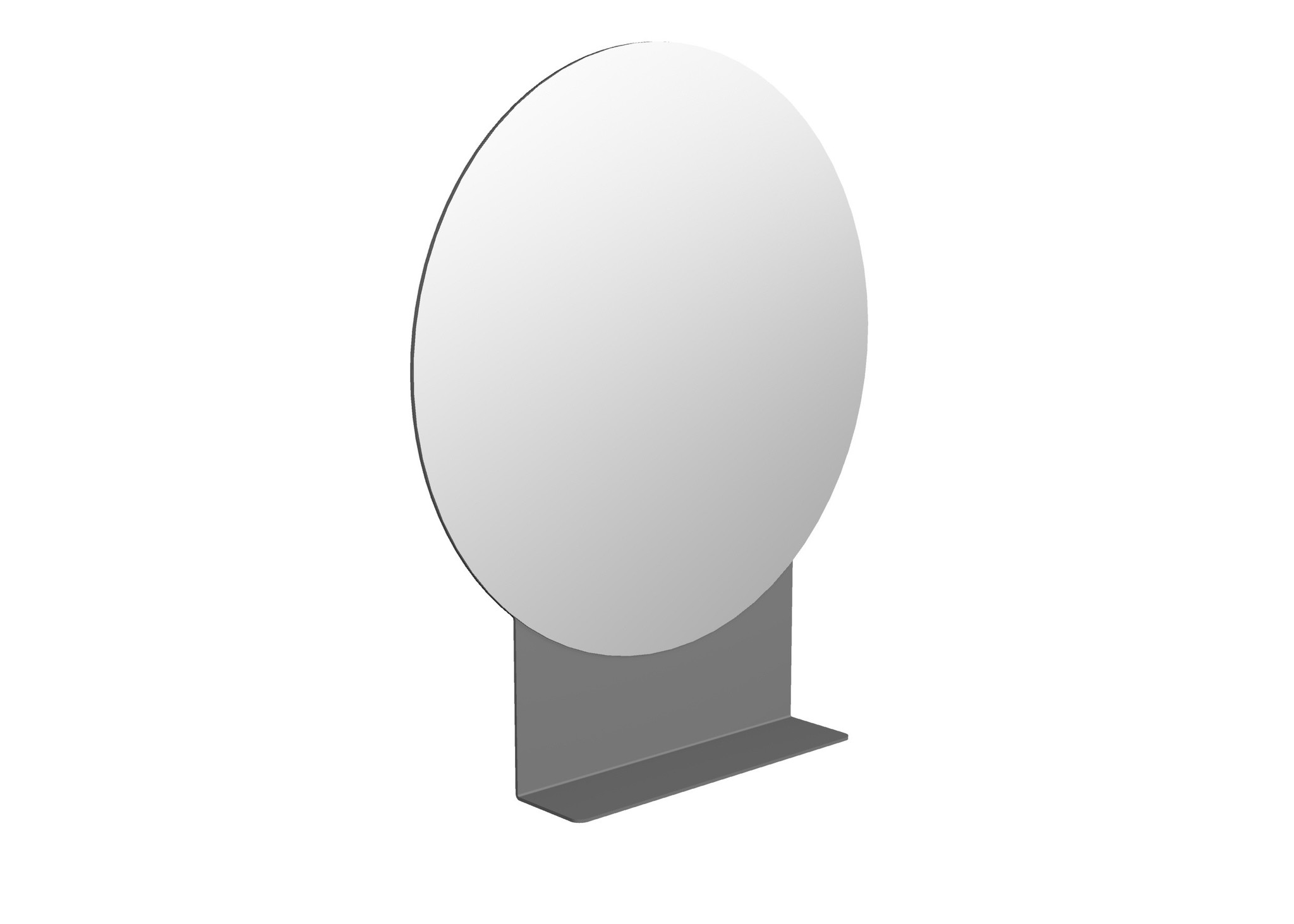 FOLD Runder Spiegel mit Regal