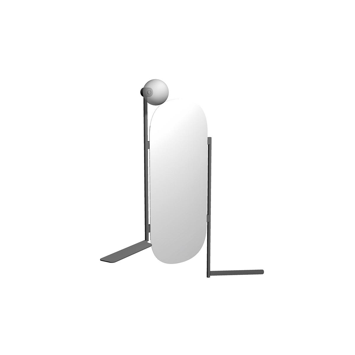 DIVA Spiegel mit Handtuchhalter, Regal, integrierte Lampe