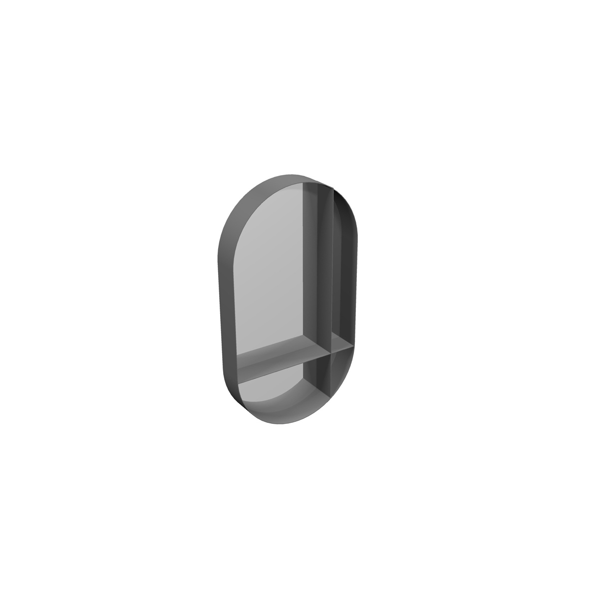 ABLE Spiegel mit Regale, Horizontal / Vertikal