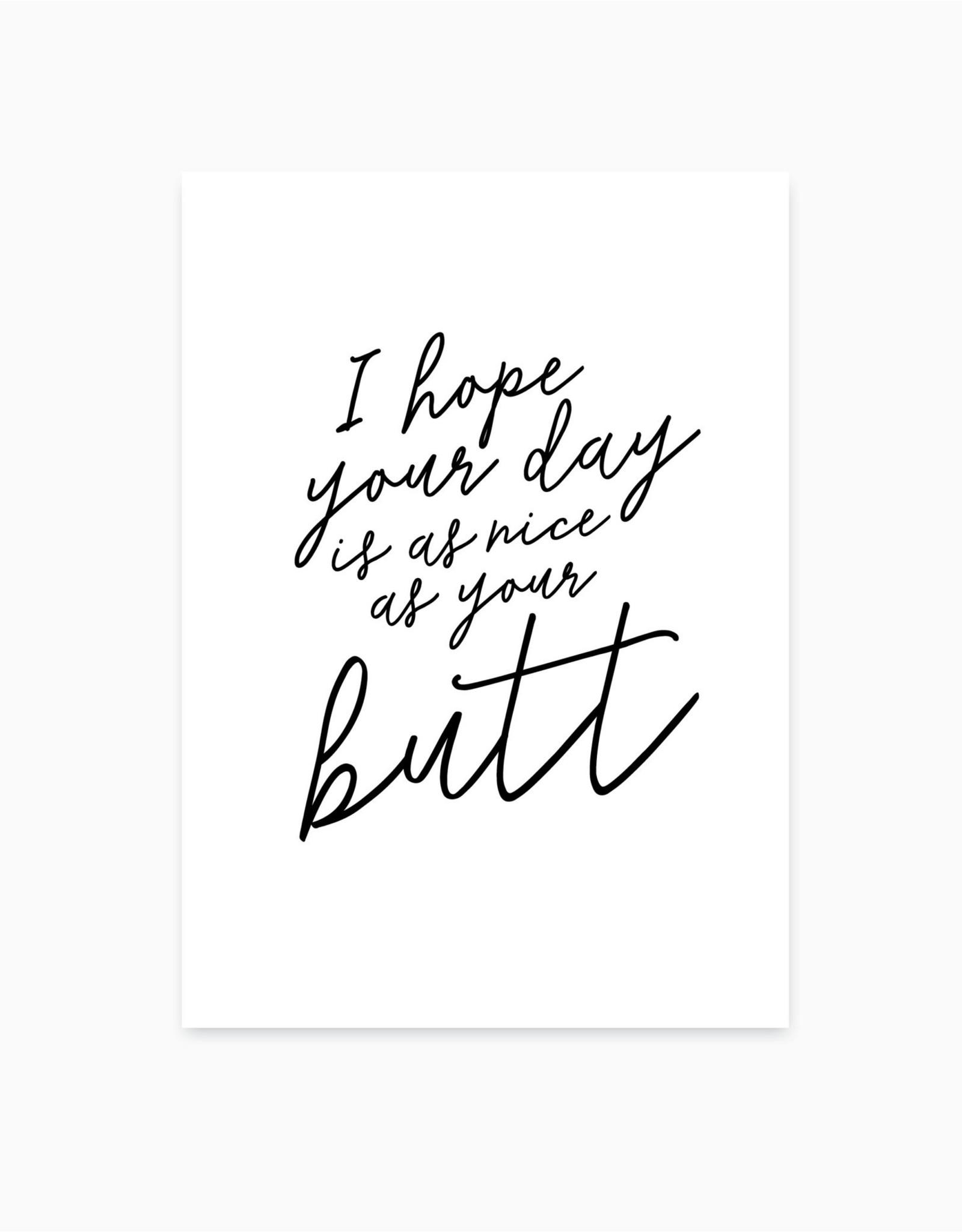 """Studio Hoeked Kaart """"Nice day/butt"""""""