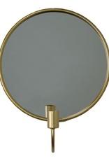 House Vitamin Kaarshouder met spiegel rond - Goud