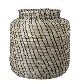 Bloomingville Minte Basket, Black, Seagrass