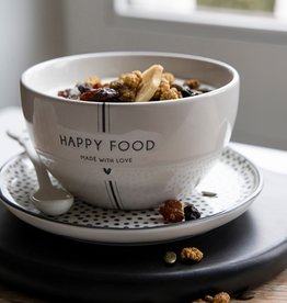 Bastion Collections Bowl White | Happy Food | Bastion Collections
