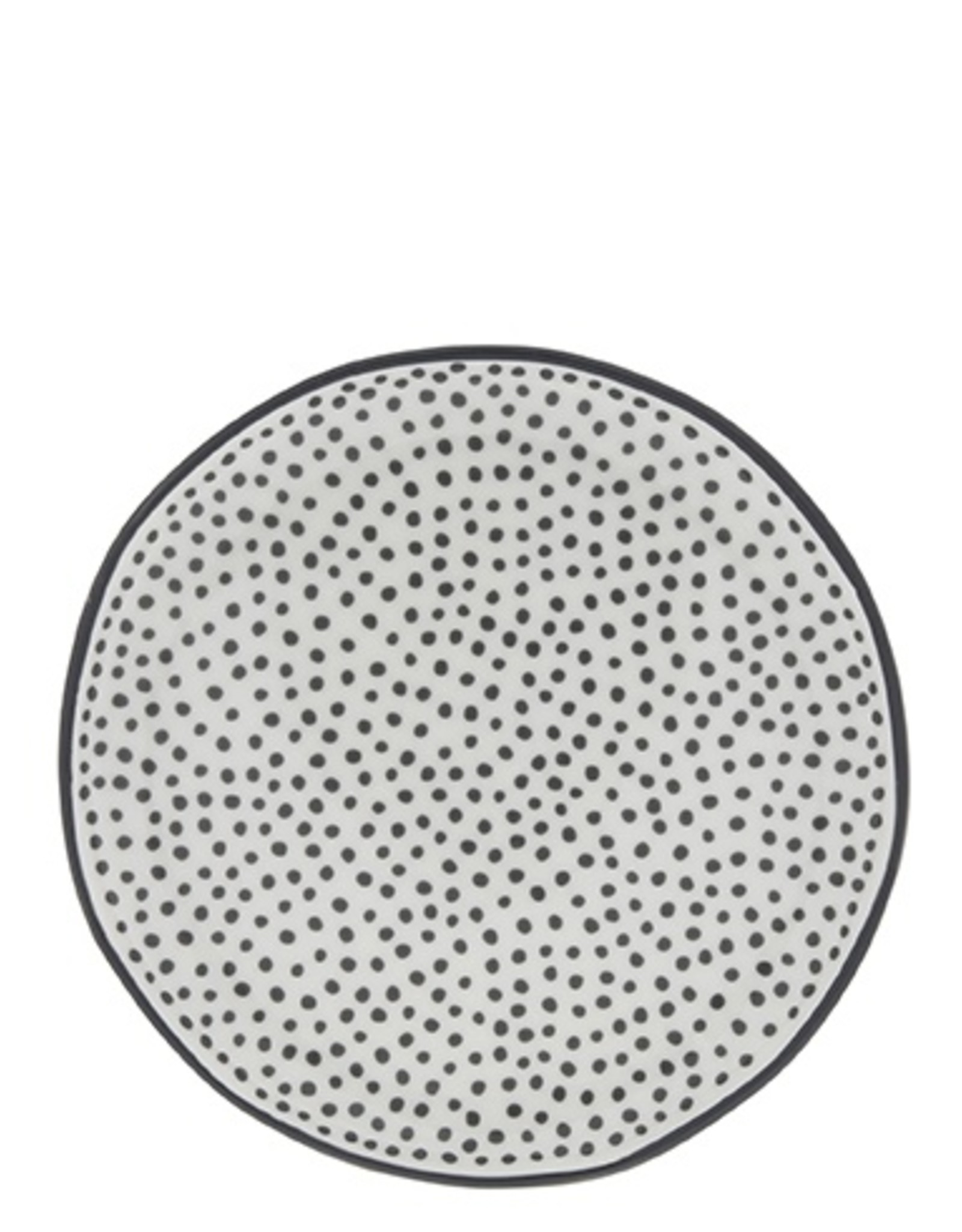 Bastion Collections Taartbord 16cm White   Little Dots in Black   Bastion Collections