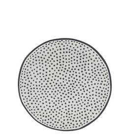 Bastion Collections Taartbord 16cm White | Little Dots in Black | Bastion Collections
