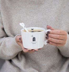 Bastion Collections Cup White | Let's stay Home | Bastion Collections