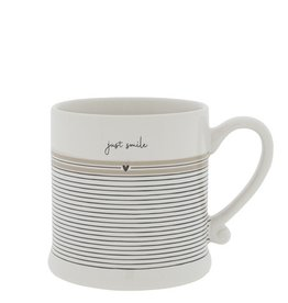 Bastion Collections Mug White | Just Smile | Bastion Collections