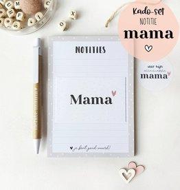 Miekinvorm Cadeau pakket voor mama || Notitieblok A6 + pen + minikaart + sticker
