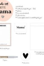 Miekinvorm Cadeau pakket voor mama    Notitieblok A6 + pen + minikaart + sticker