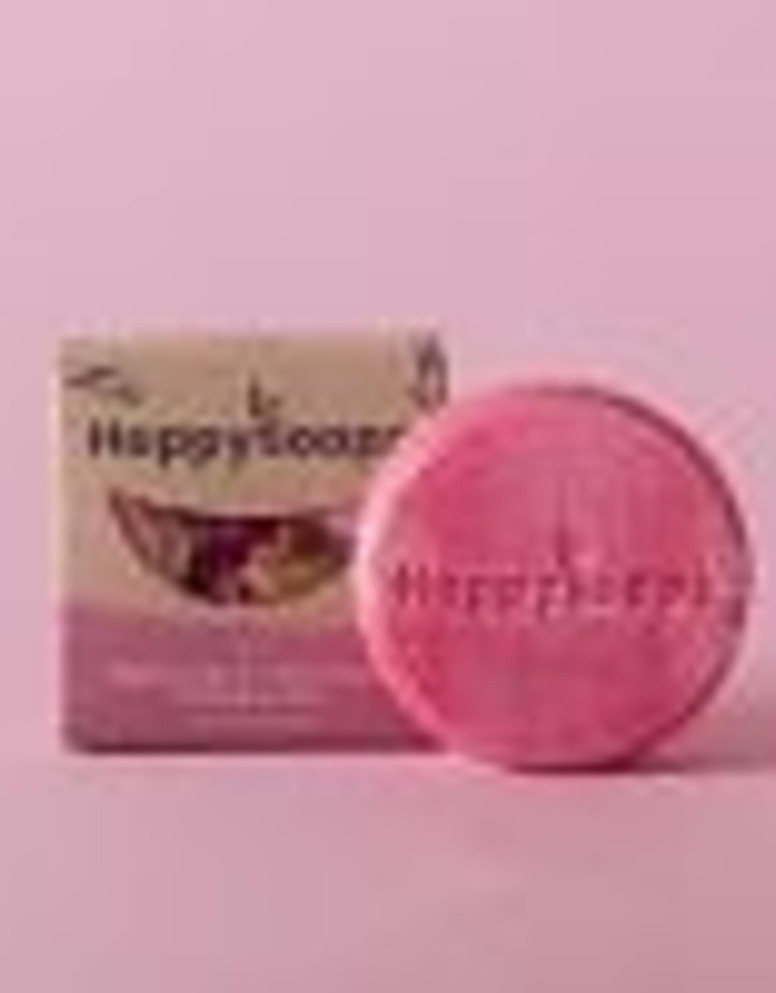 HappySoaps - 100% plasticvrije cosmetica La Vie en Rose Shampoo Bar - 70g