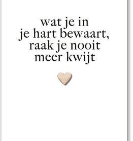 By Romi Creative Studio Wenskaart / Wat je in je hart bewaart / Hartje