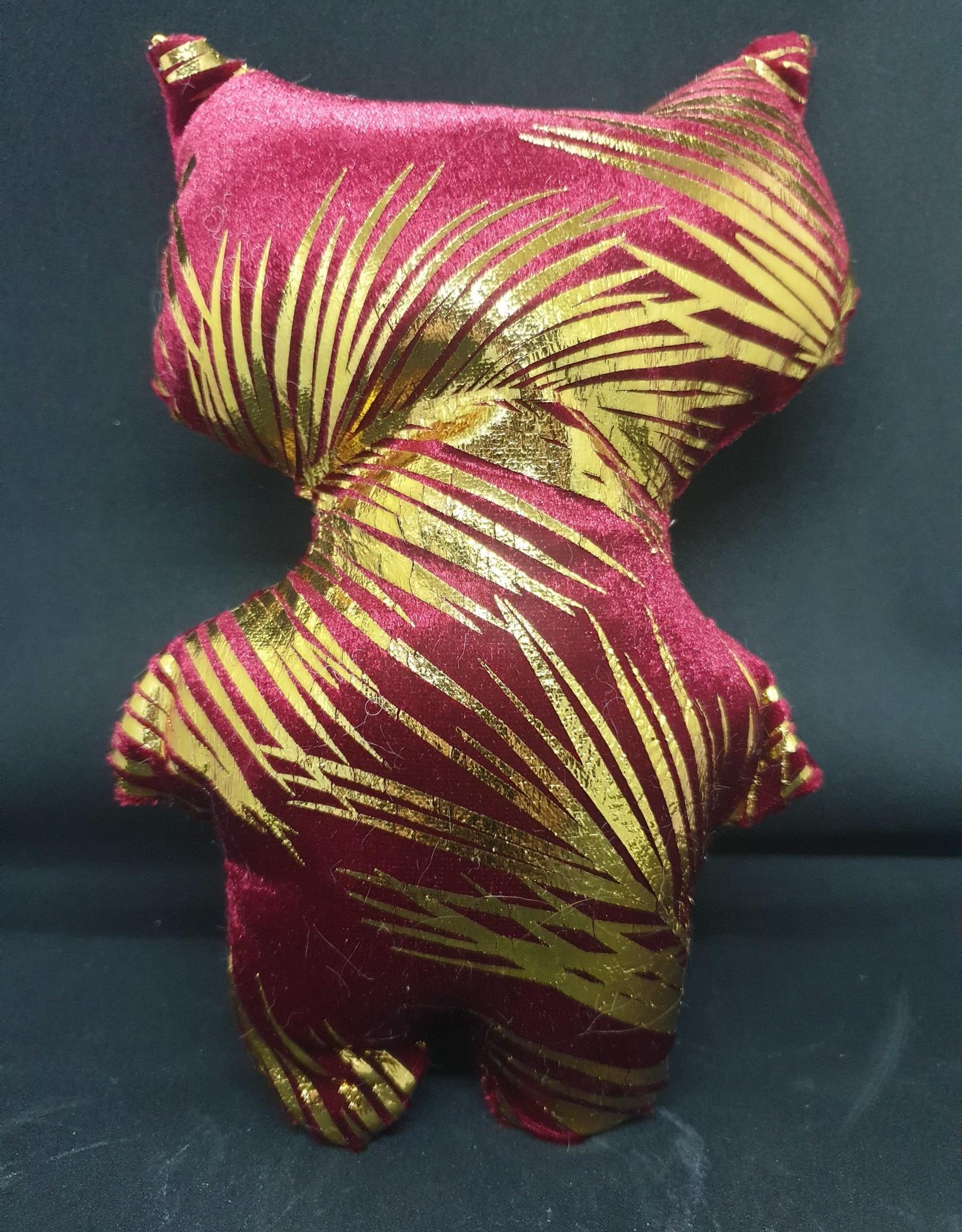 seazido - wevyra geluk en bescherming poppetje groot (goud-rood)