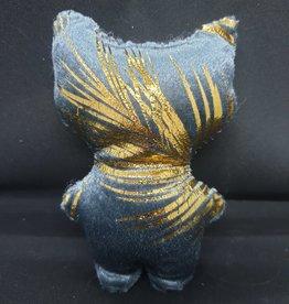 seazido - wevyra luck an protection doll medium size (gold- blue)