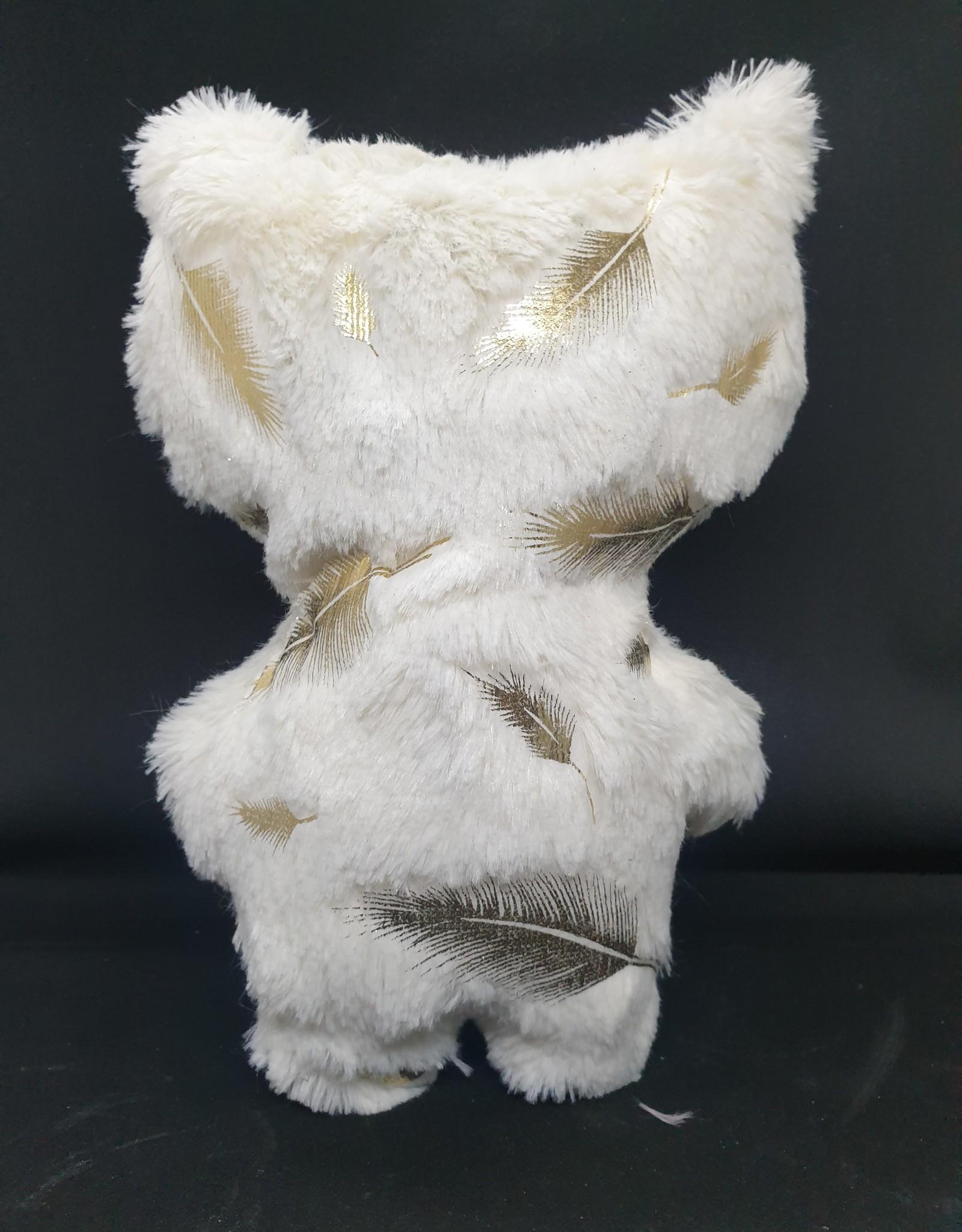 seazido - wevyra geluk en bescherming poppetje groot (gouden veer- wit)