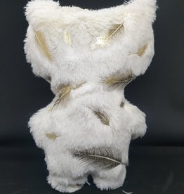 seazido - wevyra luck and protection doll big  (gold feather-white)