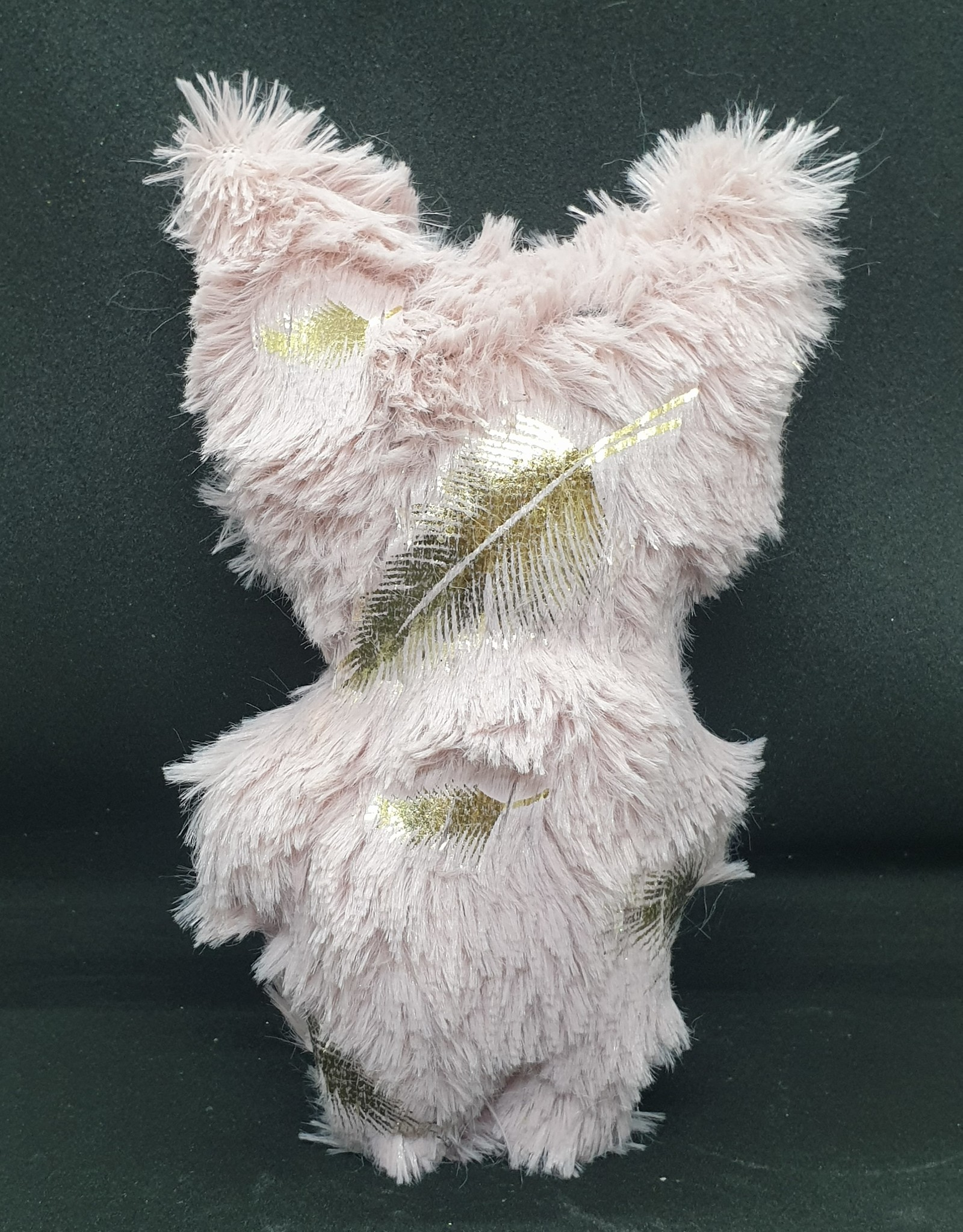 seazido - wevyra luck an protection doll medium size (gold feather- pink)
