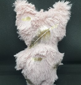seazido - wevyra geluk en bescherming poppetje middel groot (gouden veer-roze)